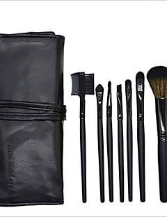 baratos -7 pcs Pincéis de maquiagem Profissional Conjuntos de pincel / Maquiagem / Pincel para Blush Pêlo Sintético / Escova de Fibra Artificial