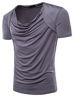 billige Herremote og klær-T-skjorte Herre - Ensfarget Grunnleggende Gatemote