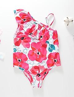billige Badetøj til piger-Baby Pige Strand Trykt mønster Trykt mønster Uden ærmer Badetøj