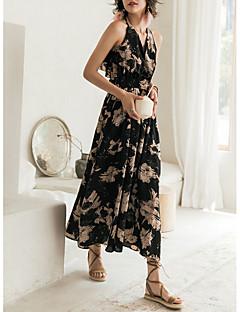 Χαμηλού Κόστους Επιλογές Συντακτών-Γυναικεία Κομψό στυλ street Θήκη Φόρεμα - Φλοράλ Μακρύ