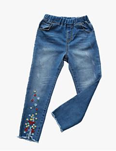 billige Bukser og leggings til piger-Børn Pige Jacquard Vævning Bukser