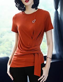 billige Dametopper-Tynn T-skjorte Dame - Ensfarget Vintage Ferie