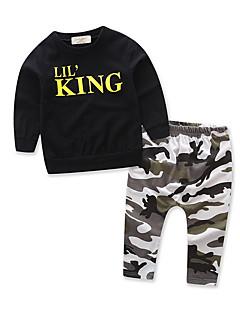 tanie Odzież dla chłopców-Dla chłopców Nadruk Długi rękaw Komplet odzieży