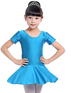 tanie Stroje baletowe-Balet Suknie Dla dziewczynek Szkolenie Wydajność Spandeks Zgnioty Krótki rękaw Naturalny Ubierać