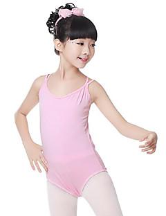 billige Ballettantrekk-Ballett Trikoter Jente Trening Ytelse Bomull Kryssdrapering Ermeløs Naturlig Trikot / Heldraktskostymer