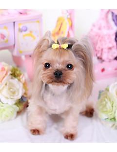 billiga Hundkläder-Hund Katt Håraccessoarer Rosetter Hundkläder Slogan Rosett Slumpmässig färg Terylen Kostym För husdjur Dam Förtjusande Huvudbonader