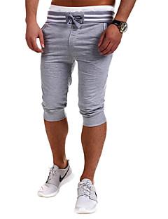 billige Herrebukser og -shorts-Herre Sporty Joggebukser Chinos Bukser Ensfarget