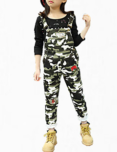 cheap Girls' Pants & Leggings-Girls' Party Pants, Cotton Spring Fall All Seasons Floral Army Green