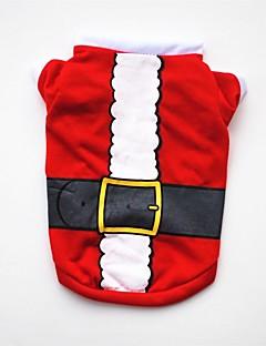billiga Hundkläder-Hund / Katt / Husdjur Väst Hundkläder Jul / Amerikanska / USA / Tecknat Röd Cotton Kostym För husdjur Dam Fest / Semester