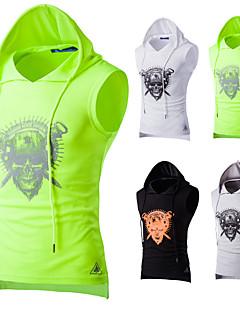 billiga Träning-, jogging- och yogakläder-Herr Linne för jogging - Svart, Ljusgrå, Grön sporter Geometrisk Linne Ärmlös Sportkläder Mateial som andas, Svettavvisande Elastisk