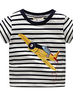 billige Overdele til drenge-Børn / Baby Drenge Stribet / Trykt mønster Kortærmet T-shirt