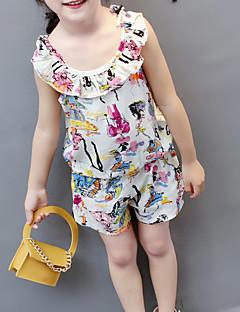 billige Tøjsæt til piger-Baby Pige Geometrisk Uden ærmer Tøjsæt