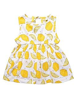 billige Pigekjoler-Baby Pige Citron Frugt Uden ærmer Kjole