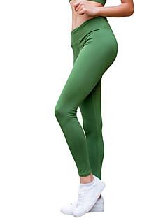 billiga Träning-, jogging- och yogakläder-Dam Yoga byxor - Svart, Grön, Blå sporter Sexig Leggings Sportkläder Yoga, Torkar snabbt, Hög Elasisitet Elastisk