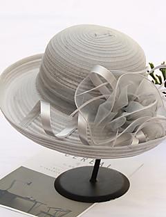 billige Hatter til damer-Dame Søtt Solhatt - Blonde, Trykt mønster / Tøy / Alle årstider