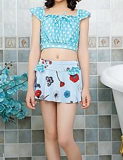 billige Badetøj til piger-Børn Pige Galakse / Trykt mønster / Farveblok Kort Ærme Badetøj