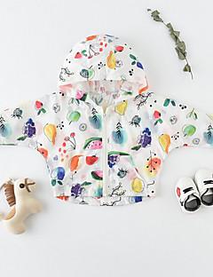 billige Pigetoppe-Baby Pige Aktiv Trykt mønster Langærmet Jakke og frakke