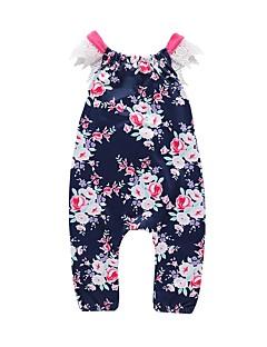 billige Bukser og leggings til piger-Baby Pige Blomstret Overall og jumpsuit