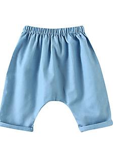 billige Babytøj-Baby Pige Aktiv Ensfarvet Bomuld Bukser