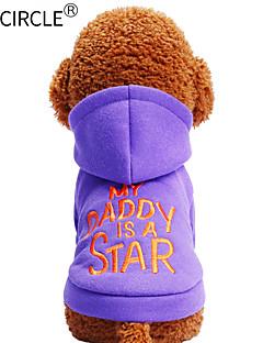 billiga Hundkläder-Hund / Katt / Husdjur Tröja Hundkläder Enfärgad / Citat och ordspråk Purpur Cotton Kostym För husdjur Herr Ledigt / vardag / Håller värmen