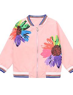 billige Jakker og frakker til piger-Børn Pige Blomstret Langærmet Jakke og frakke