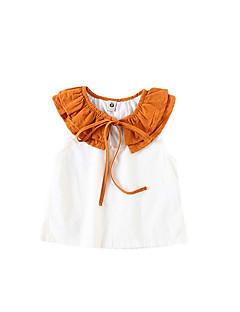 billige Babyoverdele-Baby Pige Farveblok Uden ærmer T-shirt