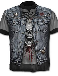ieftine Maieu & Tricouri Bărbați-Bărbați Tricou Schelet Exagerat - Bloc Culoare Cranii Imprimeu