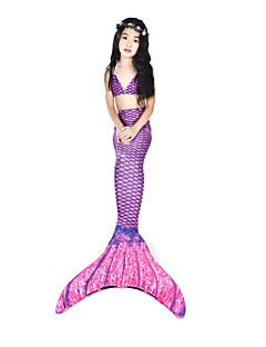 billiga Cosplay och kostymer-Lilla sjöjungfrun Badkläder / Bikini / Kostym Dam Halloween / Karnival Festival / högtid Halloweenkostymer Purpur Vintage Sjöjungfru