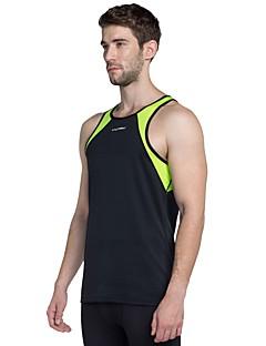זול -בגדי ריקוד גברים טישרט לריצה - שחור, ירוק ספורט עליונית טנק חדר כושר ללא שרוולים לבוש אקטיבי משקל קל, נשימה סטרצ'י (נמתח)