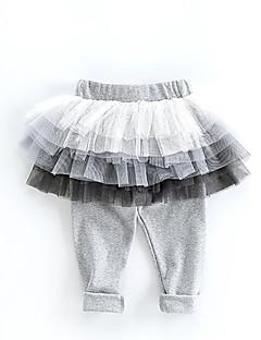 billige Babyunderdele-Baby Pige Basale Ensfarvet Nederdel
