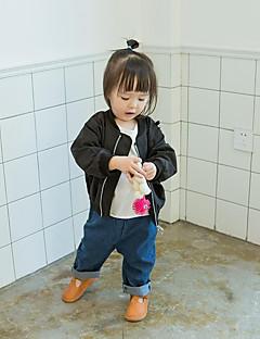 billige Overtøj til babyer-Baby Pige Unisex Ensfarvet Patchwork Langærmet Jakkesæt og blazer