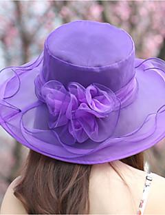 billige Trendy hatter-Dame Solhatt - Netting, Ensfarget