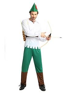 billige Halloweenkostymer-Alv / Flere Kostymer Drakter Herre Halloween / Karneval / De dødes dag Festival / høytid Halloween-kostymer Hvit Ensfarget / Halloween