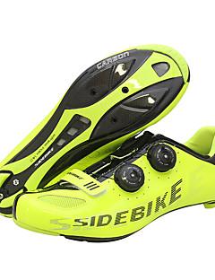 billiga Cykling-SIDEBIKE Skor för vägcykel Kolfiber Anti-halk, Bärbar Cykelsport Gul Herr