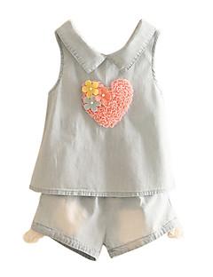 billige Tøjsæt til piger-Børn Pige Patchwork Uden ærmer Tøjsæt