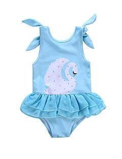 billige Badetøj til piger-Baby Pige Trykt mønster Uden ærmer Badetøj
