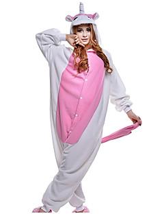 abordables -Adulte Pyjamas Kigurumi Unicorn Combinaison de Pyjamas Costume polaire Rose Cosplay Pour Pyjamas Animale Dessin animé Halloween Fête / Célébration / Noël