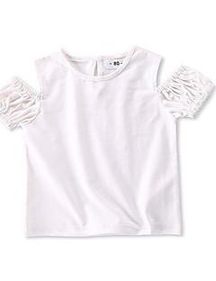 billige Babyoverdele-Baby Pige Basale Ensfarvet T-shirt