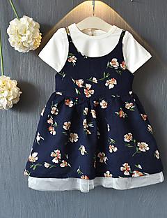 billige Tøjsæt til piger-Børn / Baby Pige Daisy Blomstret Kortærmet Tøjsæt