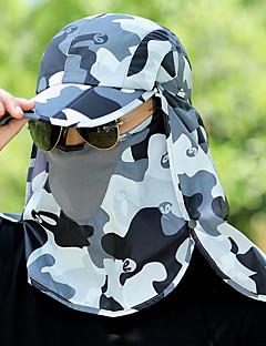 billige Clothing Accessories-Turcaps Ansiktsmaske Hatt Lettvekt Fort Tørring Pusteevne Sommer Militærgrønn Unisex Fisking Vandring Reise Kamuflasje / Elastisk / UV-bestandig