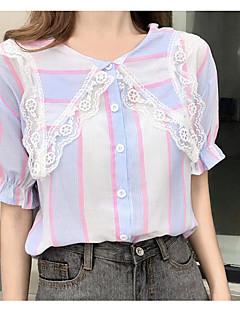 billige Skjorte-Dame - Farveblok Basale Skjorte