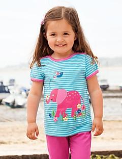 billige Pigetoppe-Børn / Baby Pige Prikker / Stribet / Patchwork Kortærmet T-shirt