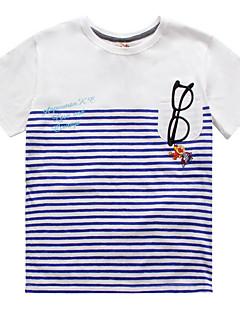 billige Babyoverdele-Baby Unisex Stribet Kortærmet T-shirt