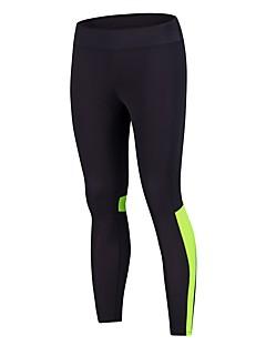 billiga Träning-, jogging- och yogakläder-BARBOK Dam Nät / Lappverk Yoga byxor - Svart / grön, Svart / Rosa sporter Mesh Cykling Tights Löpning, Fitness, Gym Sportkläder Lättvikt, Snabb tork, Andningsfunktion Elastisk