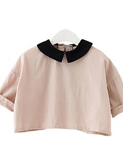 billige Pigetoppe-Børn Baby Pige Farveblok 3/4-ærmer T-shirt