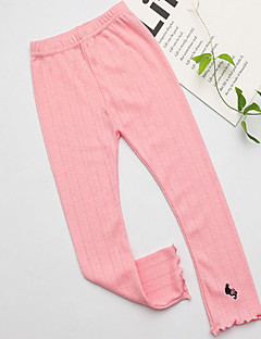 cheap Girls' Clothing-Kids Girls' Solid Colored Leggings