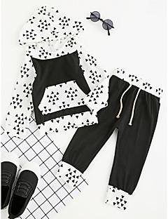 billige Tøjsæt til drenge-Drenge Tøjsæt Daglig Sport I-byen-tøj Geometrisk Ternet Ruder, Bomuld Polyester Forår Efterår Alle årstider Langærmet Pænt tøj Ternet Sort