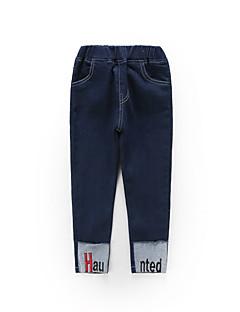 billige Bukser og leggings til piger-Børn Pige Ensfarvet / Trykt mønster Bukser