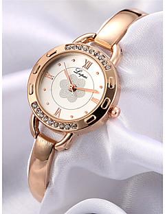 billige Armbåndsure-Dame Armbåndsur Kinesisk Kronograf / Imiteret Diamant / Af Træ Legering Bånd Blomst / Armring Rose Guld