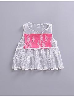 billige Babytøj-Baby Pige Ensfarvet Farveblok Uden ærmer Undertrøje og cami-top